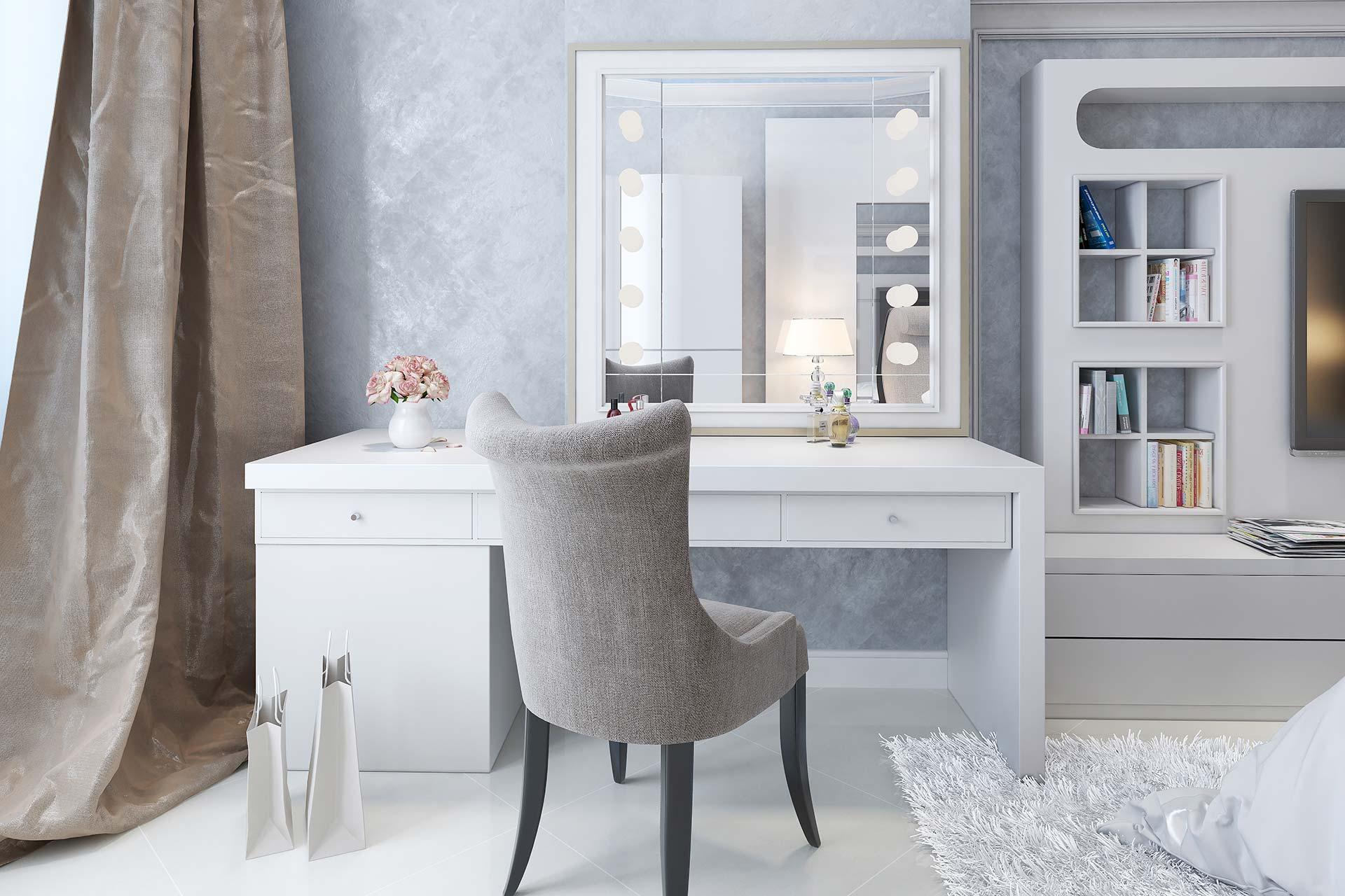 Tapeten & Farben - Luxuriöses Schlafzimmer mit dekorativer Textiltapete