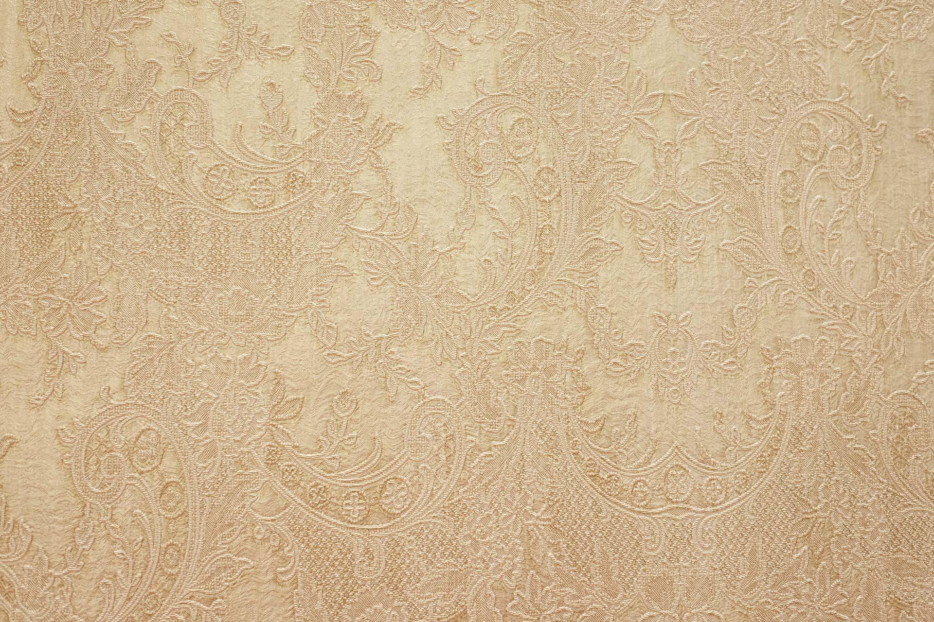 Tapeten & Farben - Vliestapete mit eingeprägtem floralem Muster